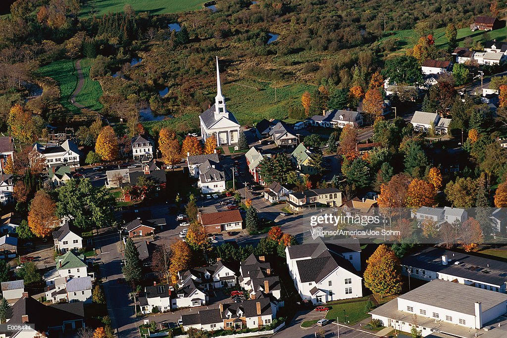 New England village : Stock Photo