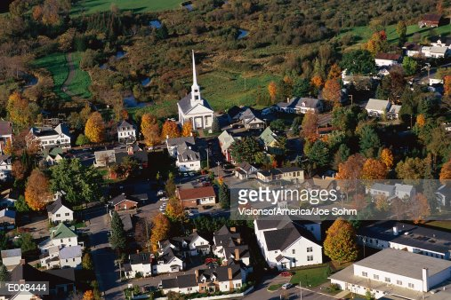 New England village : Stock Photo