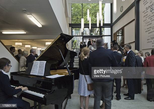 New entrance foyer during inauguration with piano player Colston's Girls' School School Europe United Kingdom Avon Walters and Cohen Ltd