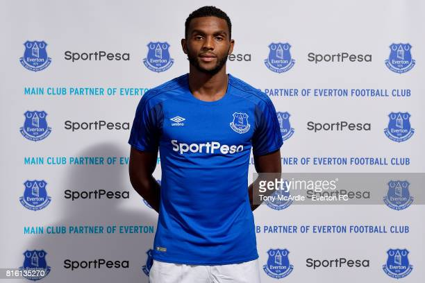New Everton signing Cuco Martina poses for a photo at USM Finch Farm on July 17 2017 in Halewood England