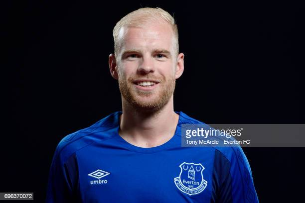 New Everton signing Davy Klaassen poses for a photo at USM Finch Farm on June 15 2017 in Halewood England