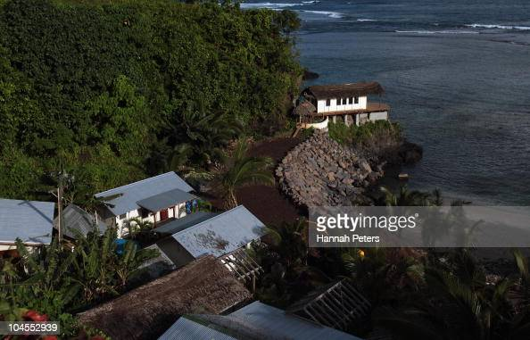 New fales under construction at the Seabreeze Resort in Matatufu on September 29 2010 in Apia Samoa 189 people were killed and hundreds more injured...
