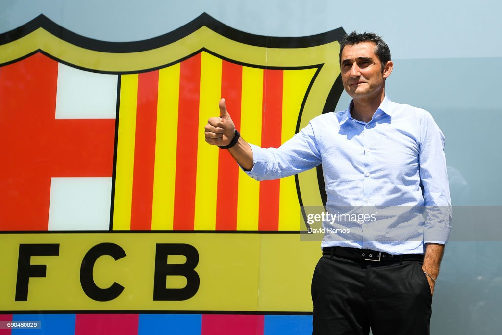 FC Barcelona Unveil New Head Coach Ernesto Valverde : News Photo
