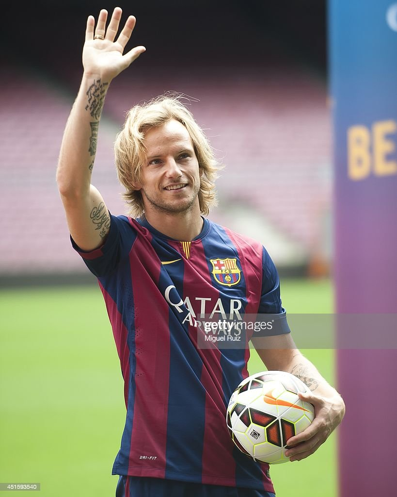 FC Barcelona Unveil Ivan Rakitic s and
