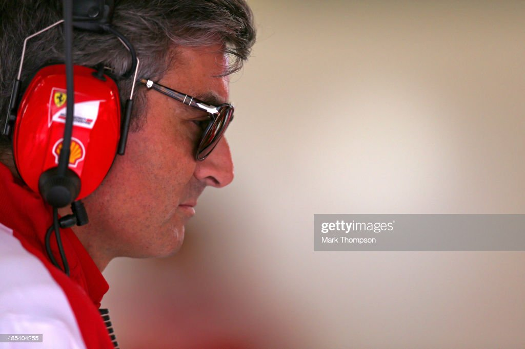 New Ferrari team boss <a gi-track='captionPersonalityLinkClicked' href=/galleries/search?phrase=Marco+Mattiacci&family=editorial&specificpeople=3055882 ng-click='$event.stopPropagation()'>Marco Mattiacci</a> watches his team's progress during practice ahead of the Chinese Formula One Grand Prix at the Shanghai International Circuit on April 18, 2014 in Shanghai, China.