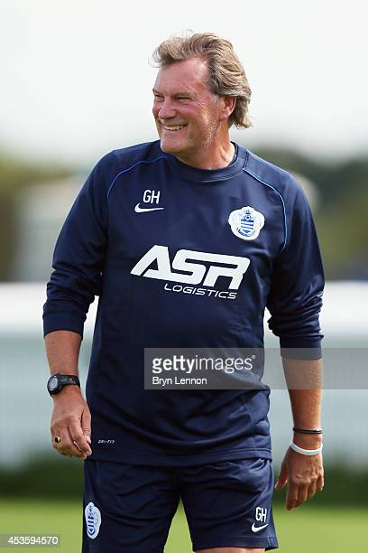 New First Team Coach Glenn Hoddle attends a Queens Park Rangers Training Session on August 14 2014 in Harlington England