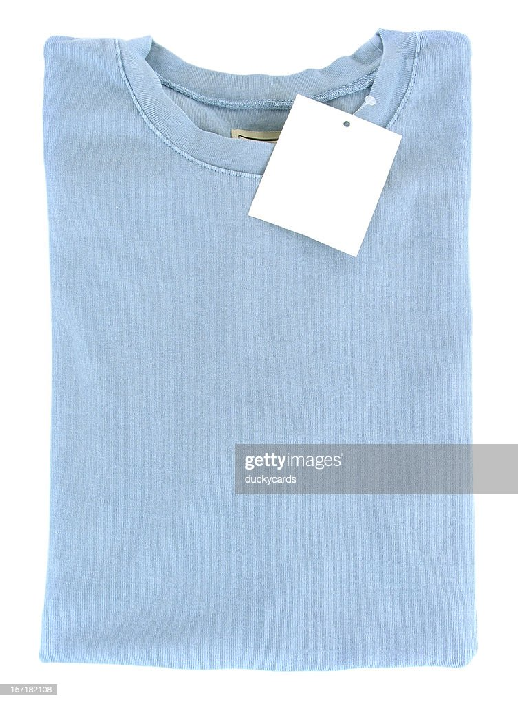 New Folded T-Shirt with Blank Tag