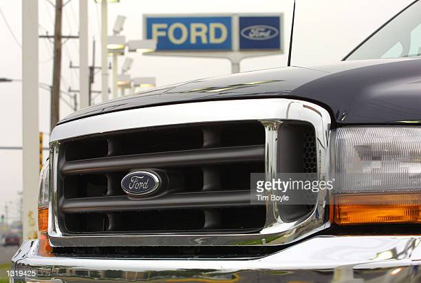 A new Ford F250 pickup sits on the lot of Golf Mill Ford June 6 2001 in Niles IL Ford''s F150 pickup has been rated 'poor' in a new offset crash test...
