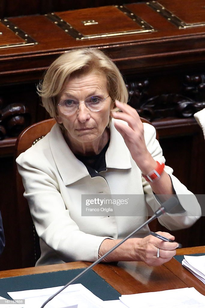 New Foreign Minister <a gi-track='captionPersonalityLinkClicked' href=/galleries/search?phrase=Emma+Bonino&family=editorial&specificpeople=539913 ng-click='$event.stopPropagation()'>Emma Bonino</a> attends the confidence vote at the Chamber of Deputies on April 29, 2013 in Rome, Italy. The new coalition government was formed through extensive cooperation agreements between the right and left coalitions after a two-month long post-election deadlock.