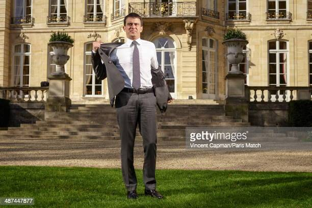 New French Prime Minister Manuel Valls is photographed for Paris Match in the Hotel Matignon on April 05 2014 in Paris France