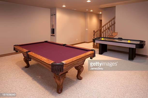 New Game Room With Pool and Air Hockey Tables