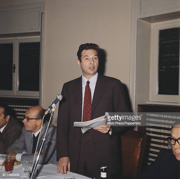 New General Secretary of the Italian communist affiliated trade union General Confederation of Labour Luciano Lama speaks at a press conference in...