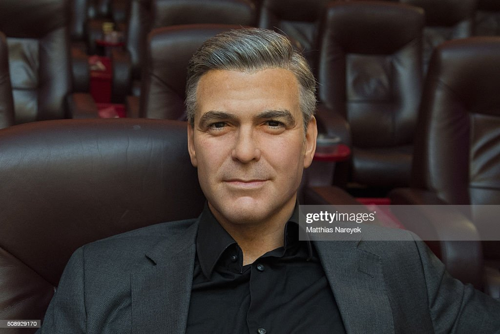 A new George Clooney wax figure by Madame Tussauds is presented at Astor Film Lounge on February 7, 2016 in Berlin, Germany.
