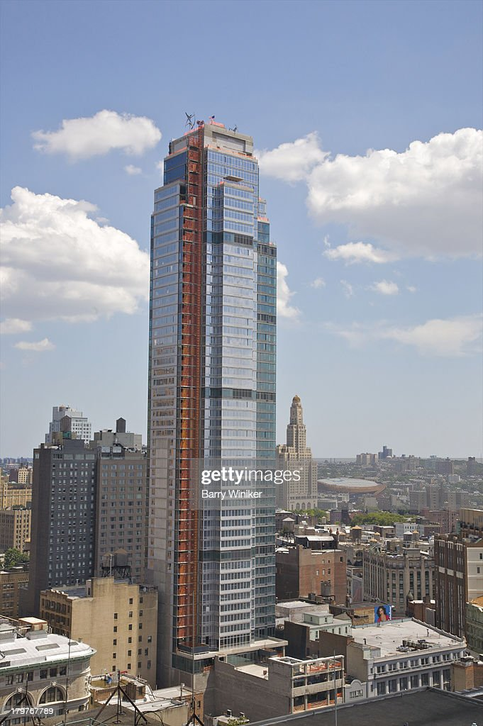 New Glass Tower With Other Tall City Buildings Stock Photo Getty