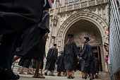 New graduates walk into the chapel before their commencement at Princeton University in Princeton New Jersey US on Sunday June 2 2013 Ben S Bernanke...