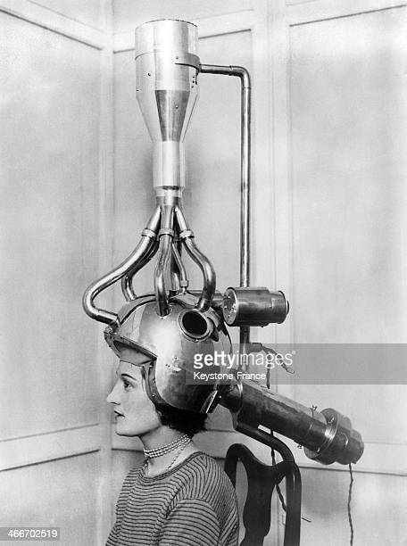 A new hair dryer has been invented circa 1930
