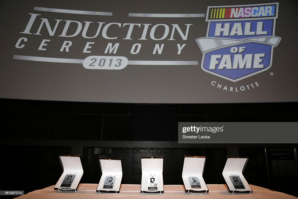 New hall of fame inductees are honored during the NASCAR Hall of Fame Inductee Marker Unveiling at the NASCAR Hall of Fame on February 10, 2013 in Charlotte, North Carolina.