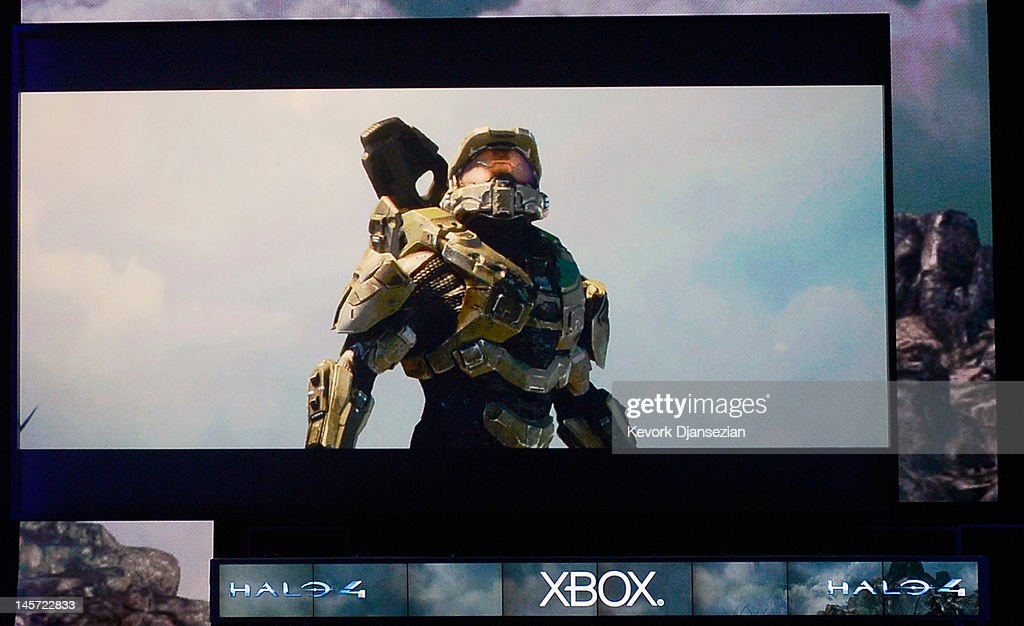 New Halo 4 game is intruduced during the Microsoft Xbox press conference at the Electronic Entertainment Expo at the Galen Center on June 4, 2012 in Los Angeles, California. Thousands are expected to attend the annual three-day convention to see the latest games and announcements from the gaming industry.
