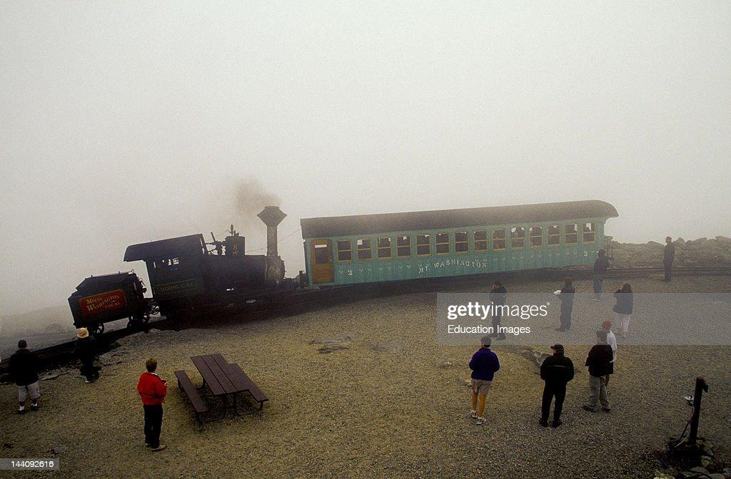 New Hampshire Mount Washington Cog Railway In Fog