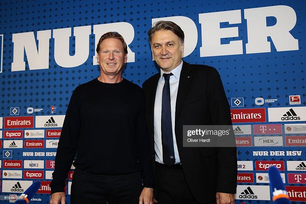 Hamburger SV Unveils New Signing Head Coach Markus Gisdol