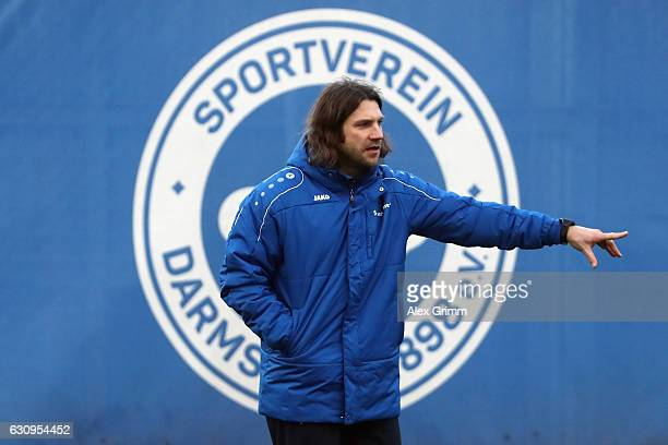 New head coach Torsten Frings reacts during a SV Darmstadt 98 training session at the team's training ground on January 4 2017 in Darmstadt Germany