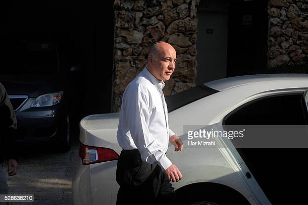 New head of the Israeli internal security agency Shin Bet Yoram Cohen get out of his house on March 29 2011 in Jerusalem Israel