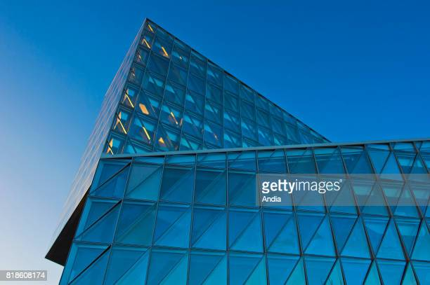 New headquarters of Japan Tobacco International JTI Japanese Group Japan Tobacco Inc architects Skidmore Owings and Merrill Selfshading quilted glass...