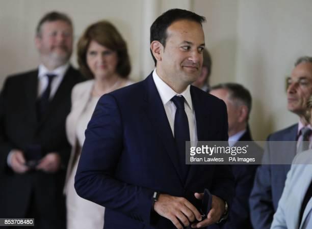 New Health Minister Leo Varadkar at Aras an Uachtarain Dublin following today's cabinet reshuffle as the Fine GaelLabour coalition Government has...
