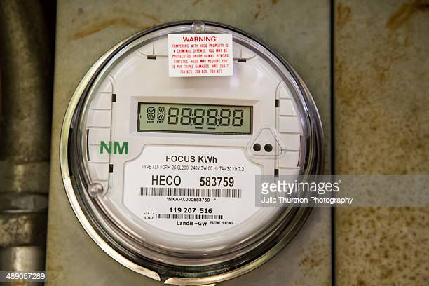 New HECO Electric Net Meter for Roof PV Photovoltaic Solar Panel System in Oahu Hawaii