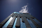 A new high rise with many glass windows on the exterior is seen on September 8 2015 in Miami Florida Reports indicate there is a shortage of glass...