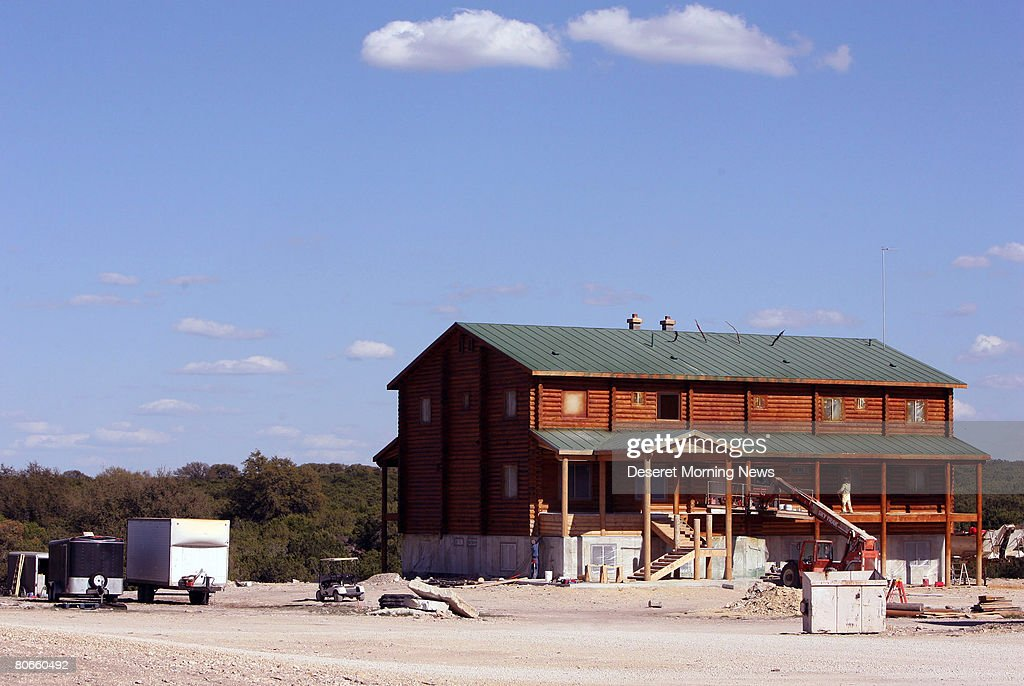 A new home being built on the Yearning For Zion ranch in Schleicher County April 12 2008 near Eldorado Texas Some 416 children were removed from the...