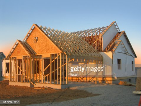 New Home Construction at Dusk