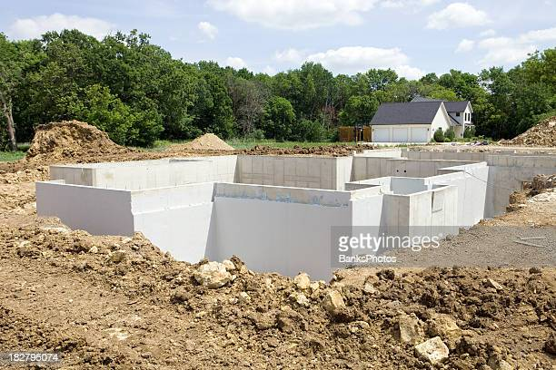 New Home Construction Foundation with Waterproofing