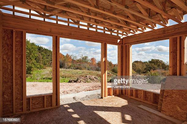 New Home Construction; Framed Room With a View