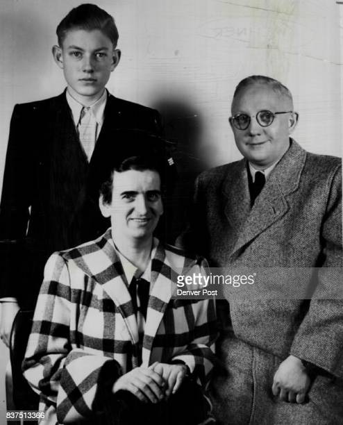 New Home New Life Starting life anew in Denver are Ernest Wehner and his 18yearold son Ernest Jr displaced persons from Germany shown here with Mrs...