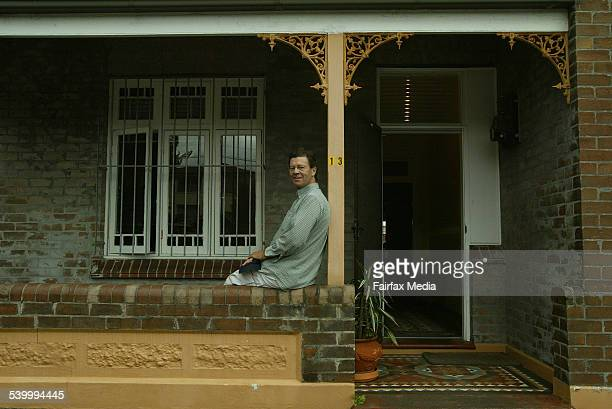 New home owner Neville Davis on the porch of his Eric Street Lilyfield property after the purchasing the property at auction 18 March 2006 SHD...