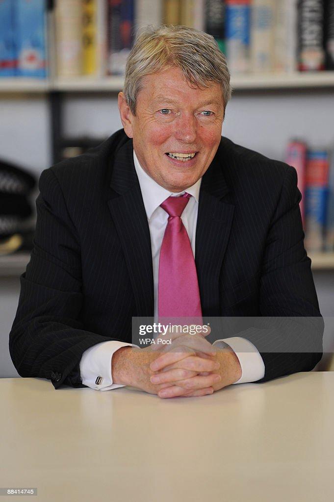 New Home Secretary Alan Johnson visits Stepney Green School with PM Gordon Brown on June 11 2009 in London Brown and Johnson were visiting the school...