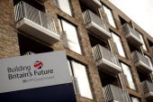 New homes are constructed on the site of the huge Aylesbury council estate in Southwark home to 7500 people on September 21 2010 in London England...