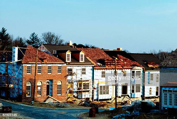New homes under construction in Rockville, Maryland