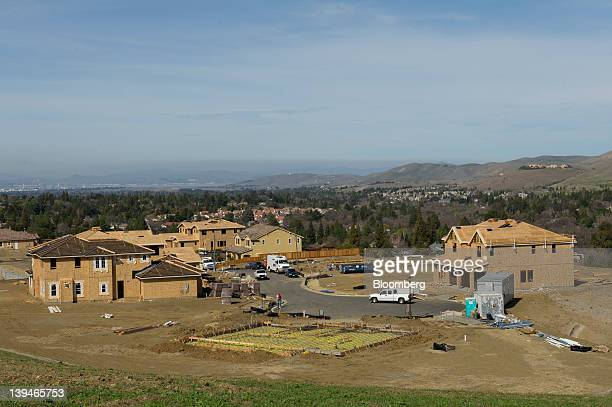 New homes under construction stand at the Toll Brothers Inc Diablo Estates development in Clayton California US on Tuesday Feb 21 2012 Toll Brothers...