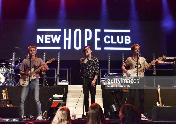 New Hope Club performs at The Wiltern on July 21 2017 in Los Angeles California