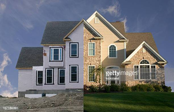 New house - before and after