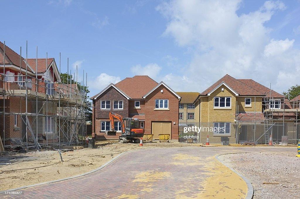 Neues Haus Bau Website : Stock-Foto