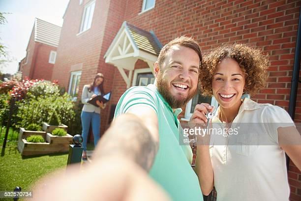 new house selfie