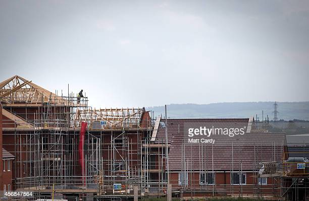 New houses are constructed on a housing estate on October 8 2014 in Bristol England On the first anniversary of the introduction of second phase of...