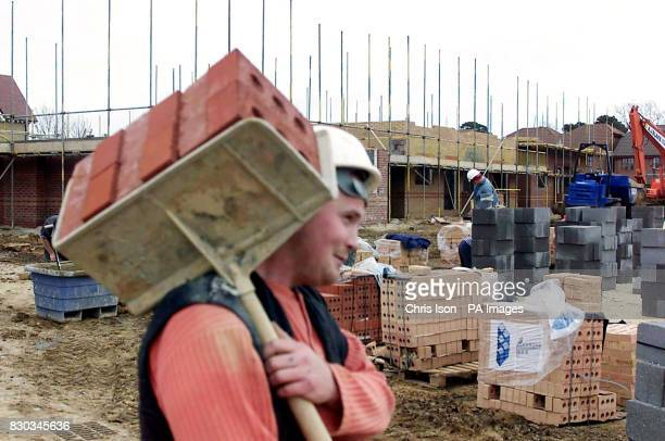 New houses under construction on a greenfield site in Whiteley built on farmland which has been heavily developed Deputy Prime Minister John Prescott...