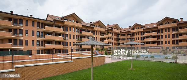 New housing development at Jaca in province of Huesca Northern Spain