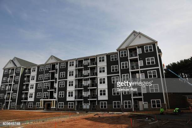 New housing stands at Canal Crossing a luxury apartment community consisting of 393 rental units near the university city of New Haven on August 2...