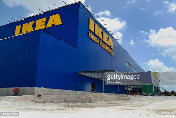 A new IKEA store stands under construction in Miami Florida US on Tuesday May 20 2014 IKEA US is currently the second largest private commercial user...