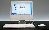 A new iMac with Intel Core Duo processor is seen on display at the 2006 Macworld January 10 2006 in San Francisco California Jobs announced a new...